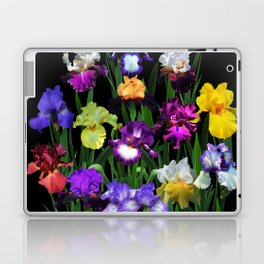 Iris Garden - on black Laptop & iPad Skin
