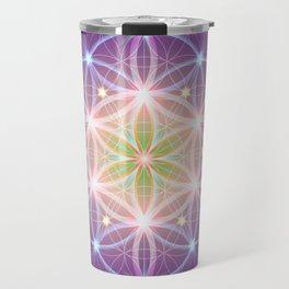 Purple Flower of Life Travel Mug
