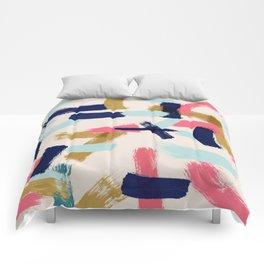 Bohemian tribal brush stroke Comforters