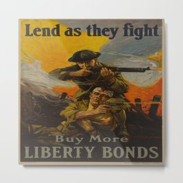 Vintage poster - Lend as They Fight Metal Print