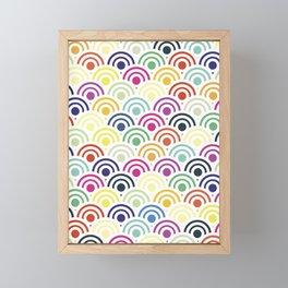 Colorful Circles II Framed Mini Art Print
