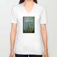 casablanca V-neck T-shirts featuring Paris by Sybille Sterk