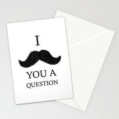 i moustache you a question Stationery Cards