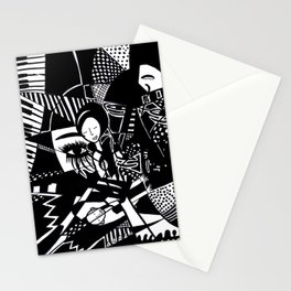Jazzy Black and White Artwork: 'Jazzy' Stationery Cards