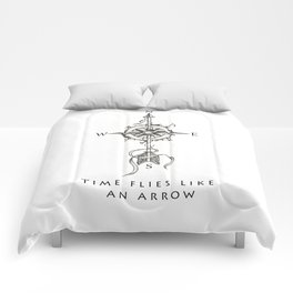 Time flies like an arrow (tattoo style) Comforters