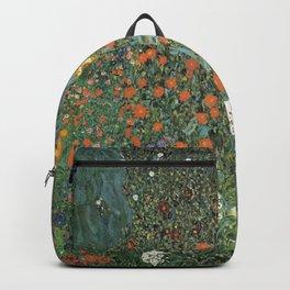 Gustav Klimt - Farm Garden with Sunflowers Backpack