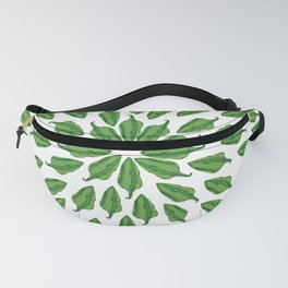 Chili peppers mandala Fanny Pack