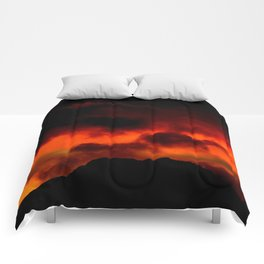 Fire Red Sunrise Comforters