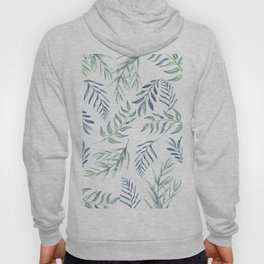 Floating Leaves Blue #society6 #buyart Hoody