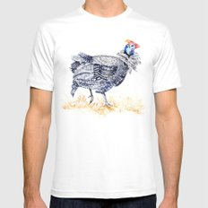Guineafowl Mens Fitted Tee White 2X-LARGE