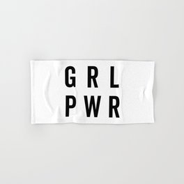 GRL PWR / Girl Power Quote Hand & Bath Towel