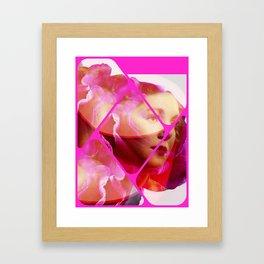 Pink bloom Framed Art Print