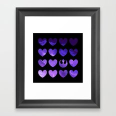 Rebel Alliance Purple Watercolor Hearts Framed Art Print
