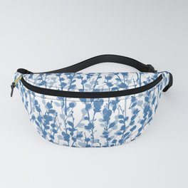 Petite Double Pussywillow Pattern — Blue Fanny Pack