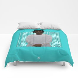 J Cole art Comforters