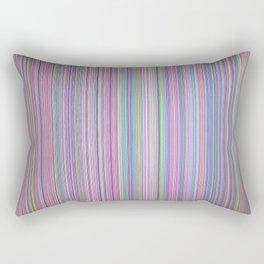 Broken TV Screen Test Pattern Rectangular Pillow