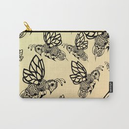 Honey Bee Pattern Carry-All Pouch