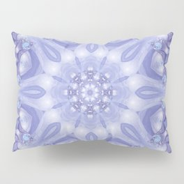 Light Blue, Lavender & White Floral Mandala Pillow Sham