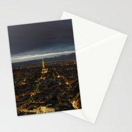 Paris Lights Night View Stationery Cards