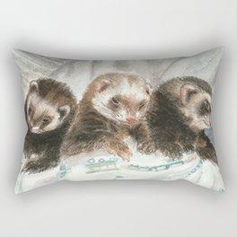 Lovely ferrets Rectangular Pillow