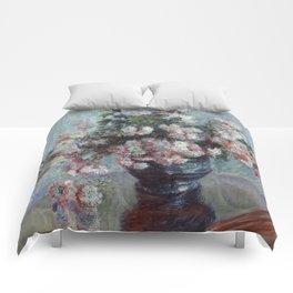 Chrysanthemums - Claude Monet Comforters