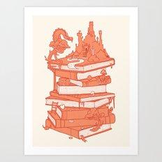 The magic of books Art Print