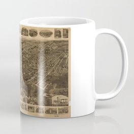 Aerial View of Middletown, New York (1921) Coffee Mug