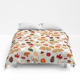 Corgi Autumn Fall woodland pillow phone case cute corgi design corgi dog pattern corgis love Comforters