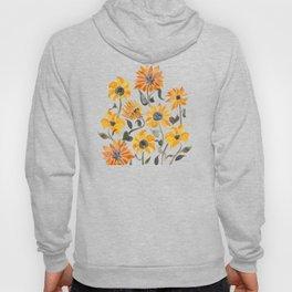 Sunflower Watercolor – Yellow & Black Palette Hoody
