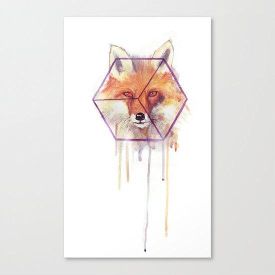 Bonjour Fox!! Canvas Print
