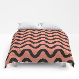Coral Ripple Comforters