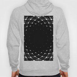 Circle Flowers Black and White Hoody