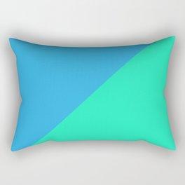Minimalism Blue Rectangular Pillow