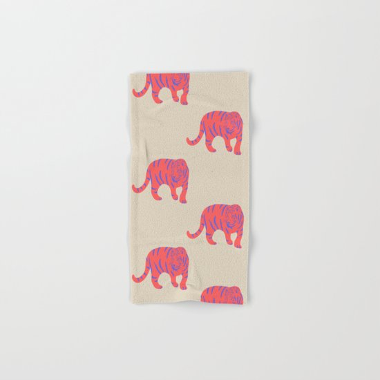 Uzual Tiger, Tiger print, animal print, nursery art Hand & Bath Towel