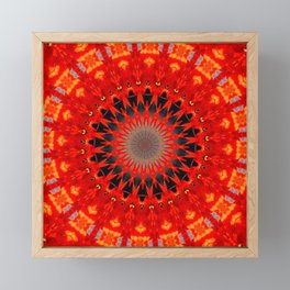 RED CIRCLE Framed Mini Art Print