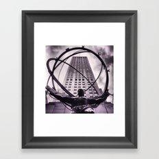 Atlas Noir Framed Art Print