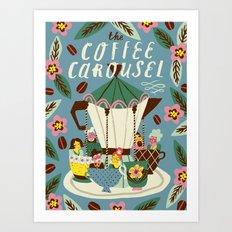 The Coffee Carousel Art Print