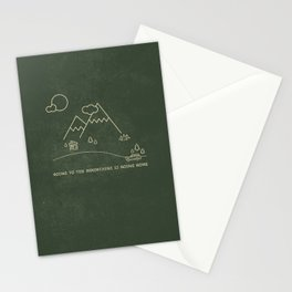 going home Stationery Cards