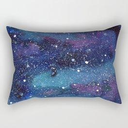 Galaxy Space Painting Stars Cosmic Universe Nebula Art Rectangular Pillow