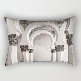 The Historic Arches in the Synagogue of Santa María la Blanca, Toledo Spain Rectangular Pillow