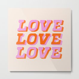 much love Metal Print