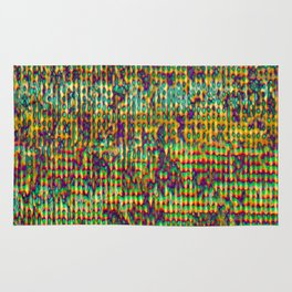 Multicolored Digital GrungePrint Rug
