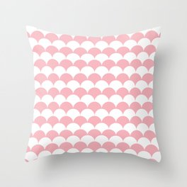 Coral Fan Shell Pattern Throw Pillow