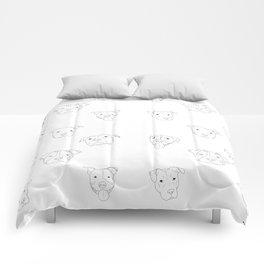 White pit bull love Comforters
