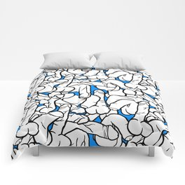 Schlong Song in Blue, All the Penis! Comforters