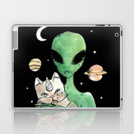 aliens and cats are human haters Laptop & iPad Skin