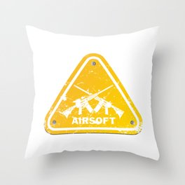 Shield Triangle Softair Airsoft BBs Gift Throw Pillow