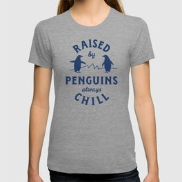 Raised by Penguins T-shirt
