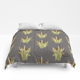 fall cattails Comforters