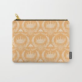 Queen Bee - Royal Crown in Honey Orange Carry-All Pouch